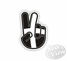 Peace Hand Gesture No Worries Cornwall Flag Car Van Stickers Decal Sticker