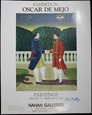 OSCAR DeMEJO, Original Poster, Nahan Galleries Exhibition, 1986, Signed