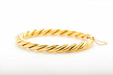 Designer H Stern $9000 18k Yellow Gold CABLE Bangle Bracelet 40g HEAVY