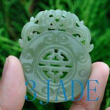 Natural Hetian Nephrite Jade Carving Pixiu Pendant