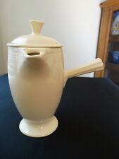 Rare Vintage Fiesta Ware Old Ivory Stick Demitasse Coffee Pot Free Shipping