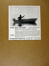 1960 Starcraft Sea Scamp Fishing Boat photo vintage print Ad