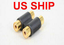 Double 2 x RCA Phono Coupler Female to Female Audio Video Connector Adaptor GOLD