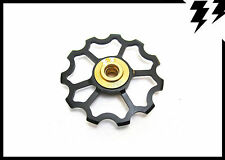 "1x MT ZOOM BLACK Ultralight Jockey ""Speed"" Wheel/Derailleur Pulley 5.6g!"