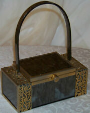 Vintage Estate Item  Lucite And Metal Trimmed Purse