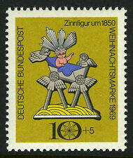 Germany B454, MI 610, MNH. Christmas. Jesus in Manger. Tin Toy, 1969