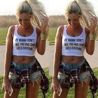 Women Tank Tops Bustier Bra Vest Crop Top Bralette Sleeveless Casual Blouse UK