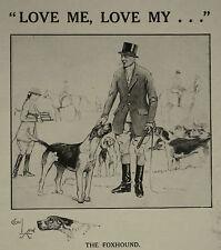 Cecil Aldin Foxhound Abdulla Cigarettes 1927 Page Ad Advertisement