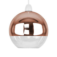 Mirror Copper & Clear Glass Ball Modern Ceiling Pendant Light Lamp Shade Lights