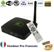 ANDROID TV BOX FULL HD 1080P HDMI 4GO WIFI RJ45 PORTS USB LECTEUR CARTE MICRO SD