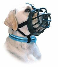 Baskerville Ultra Adjustable Padded Dog Muzzles Black Plastic Basket size 2