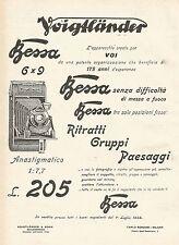 W7829 Apparecchio Fotografico VOIGTLANDER Bessa - Pubblicità del 1929 - Old ad