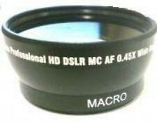 Wide Lens for Canon HFM40 HG10 HV20 HV40 Optura 100MC