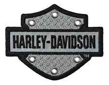 HARLEY DAVIDSON B&S TEXT RIVETS REFLECTIVE HARLEY PATCH