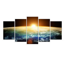 Abstract Space Art Print on Canvas Picture Photo Landscape Home Decor Framed 5PC