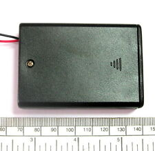 Battery holder for 3 X 'AA' (UM-3) cell - with leads - hard case - unswitched
