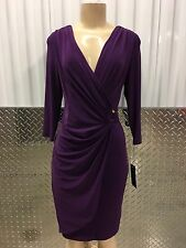 new nwt jones new york ny cocktail evening party gown purple m dress 8US/36-38EU