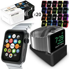 Orzly®  ULTIMATE PACK for Apple Watch (42MM) Includes 20 FacePlate & Nightstand