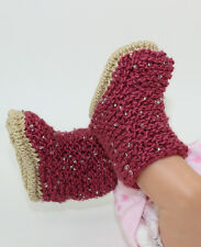 KNITTING INSTRUCTIONS-BABY BEADED BOOTIES  SHOES BOOTS KNITTING PATTERN