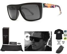 NEW Electric Black Top James Haunt 2.0 Ohm Grey Square Mens Sunglasses Msrp$120