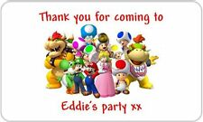 24 Personalised Super Mario Birthday Party Goody Bag Sweet Cone Stickers