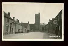 Somerset MONTACUTE Church early RP PPC A Palmer tobacconist Faults c1930s?