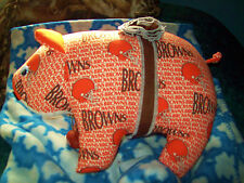 Large Fat CLEVELAND Browns Stuffed Animal Football Pig...NEAT