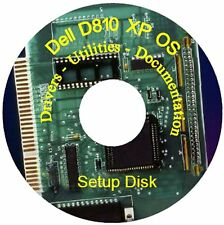Dell D810 Latitude Laptop Support Windows XP CD Drivers + Manuals