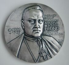 POLAND POLISH CARDINAL PRIMATE BISHOP AUGUST HLOND CATHOLIC MEDAL