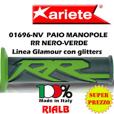 Paio Manopole Moto HARRI'S Racing Replica RR NERO VERDE ORIGINALI ARIETE 01696NV