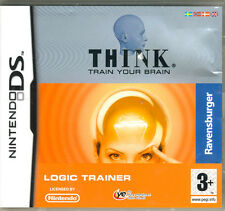 Think - Train Your Brain: Logic Trainer (NDS, Nintendo DS) Brand NEW & Sealed