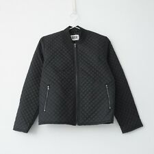 HOF115: Weekday Flight quilted jacket black / Jacke steppjacke schwarz M