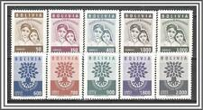 Bolivia #418-422, C212-C216 World Refugee Year MNH