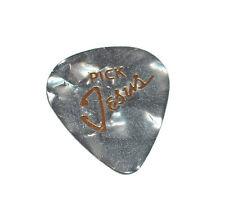 Elige Jesús Guitarra Plectro escritura atrás romanos 10:13 oscuro gris perla y oro