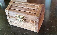 Treasure Chest Gift Box, Mini, Wooden, New