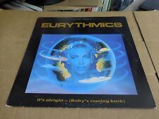 """EURYTHMICS IT'S ALRIGHT ( BABY'S COMING BACK) PIC SLEEVE  VINYL 12"""""""