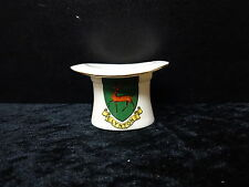 Carlton China model of a top hat with Lynton crest