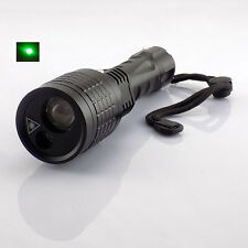 Led Flashlight +Green Laser pointer Search light 800 lumen flash light tactical
