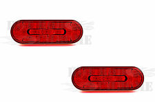 """2x6"""" Oval LED Light 17 Red Diodes with a Red Lens Truck Trailer Marker Light"""