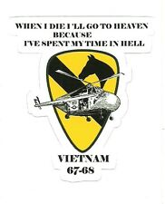 UNITED STATES ARMY 1ST CAVALRY VIETNAM VETERAN  Sticker Decal