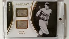 2016 Panini Immaculate Babe Ruth Game Used Dual Relic (Jersey/Pants?) ID-BR 1/5