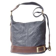 Schultertasche , Tasche aus italienischem Leder in Hand in Italien 300S dg
