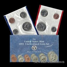 1991 P+D U.S. Mint Set ~ Kennedy Washington Roosevelt Jefferson Lincoln US Coins