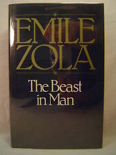 Emile Zola THE BEAST IN MAN Hardcover 1969 Reprint in dj----FREE SHIPPING to USA