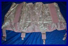 Wunderschöner Vintage Satin Strapsgürtel Gr. 102 rosa Pin Up Girdle (H125)