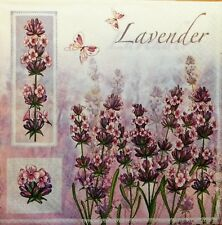 20 x PAPER NAPKINS FULL PACK LAVENDER GARDEN TABLE  PARTY  LUNCH 113