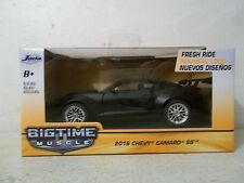 2016 JADA TOYS 1/32 SCALE BIGTIME MUSCLE 2016 CHEVY CAMARO SS  FLAT BLACK