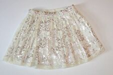 NWT Gap Girls Holiday First Light Ivory &Gold Lace PartySkirt 10 L *Christmas