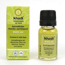 (19,00/100ml) Khadi Ayurvedisches Gesichts Körperöl White Lily vegan 10 ml