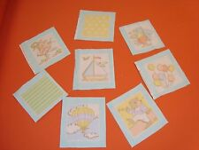"VTG WAVERLY 108 QUILT SQUARES BLOCK LOT SO BIG 5"" ANIMAL NURSERY FABRIC Cotton"